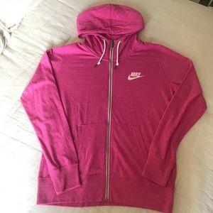 Nike vintage drawstring Full ZIP hoodie
